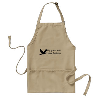 My Grand Kids Have Feathers Adult Apron