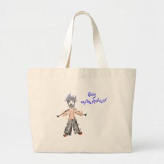 My Grandad - Child s Drawing Tote Bag