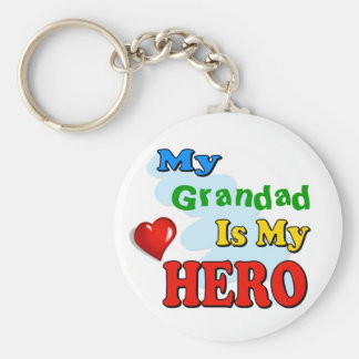 My Grandad Is My Hero – Insert your own name Basic Round Button Keychain