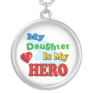 My Grandad Is My Hero – Insert your own name Silver Plated Necklace