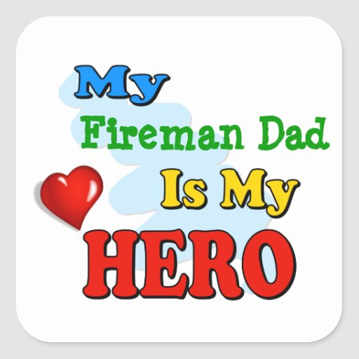 My Grandad Is My Hero – Insert your own name Square Sticker