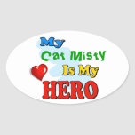 My Grandad Is My Hero – Insert your own name Oval Stickers