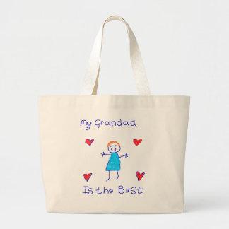 My Grandad is the Best Large Tote Bag