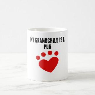 My Grandchild Is A Pug Classic White Coffee Mug