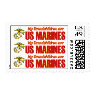 My Grandchildren are Marines Postage