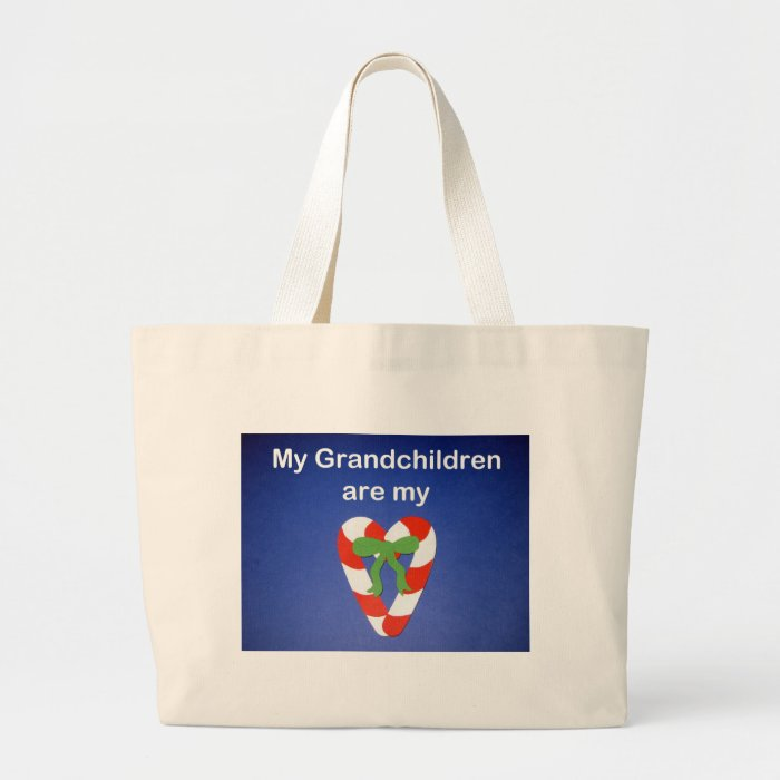 My Grandchildren are my heart! Large Tote Bag