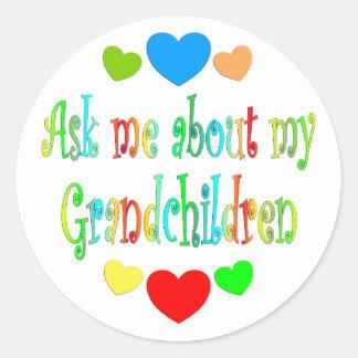 My Grandchildren Classic Round Sticker