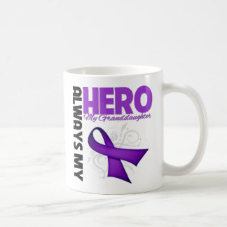 My Granddaughter Always My Hero - Purple Ribbon Coffee Mug
