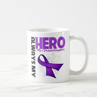 My Granddaughter Always My Hero - Purple Ribbon Classic White Coffee Mug