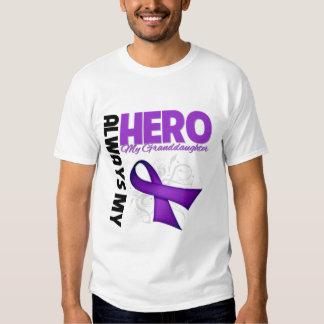 My Granddaughter Always My Hero - Purple Ribbon T-Shirt