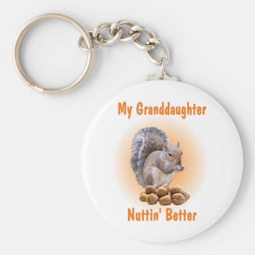My Granddaughter Basic Round Button Keychain