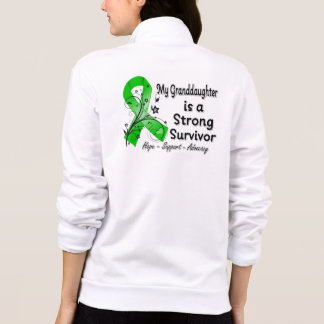 My Granddaughter is a Strong Survivor Green Ribbon Printed Jacket