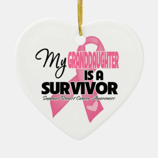 My Granddaughter is a Survivor - Breast Cancer Ornament