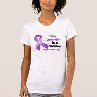 My Granddaughter is a Survivor Purple Ribbon T-shirts