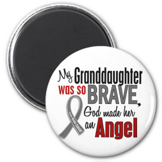 My Granddaughter Is An Angel 1 Brain Cancer 2 Inch Round Magnet