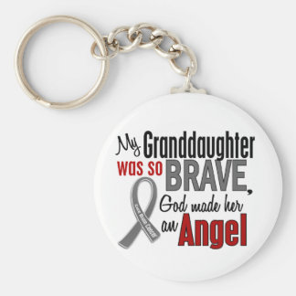 My Granddaughter Is An Angel 1 Brain Cancer Keychain
