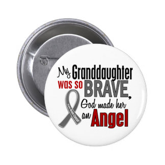 My Granddaughter Is An Angel 1 Brain Cancer Pinback Button