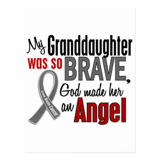 My Granddaughter Is An Angel 1 Brain Cancer Postcards
