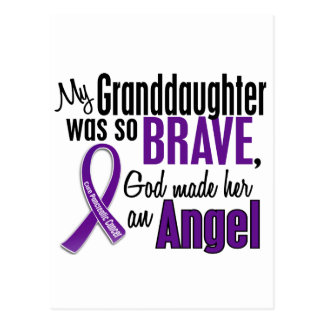 My Granddaughter Is An Angel Pancreatic Cancer Postcard