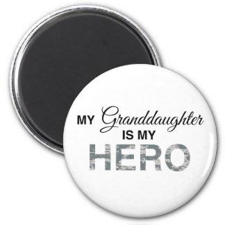 My Granddaughter is my Hero Digital Camouflage Magnet