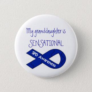 My Granddaughter Is SENSATIONAL SPD Awareness Button