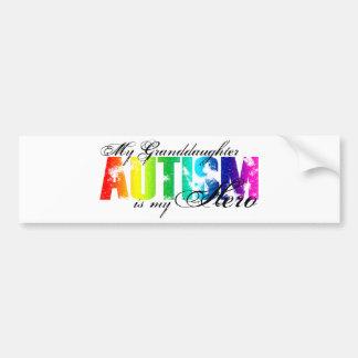 My Granddaughter My Hero - Autism Car Bumper Sticker