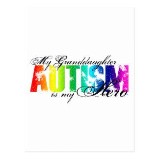 My Granddaughter My Hero - Autism Postcard