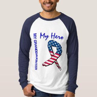 My Granddaughter My Hero Patriotic Grunge Ribbon T-Shirt