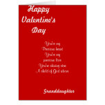 My granddaughter on valentine's day greeting card