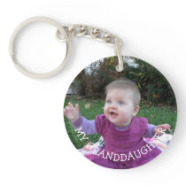 My Granddaughter Photo gift Keychain