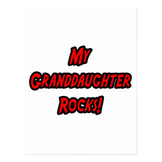My Granddaughter Rocks Postcard