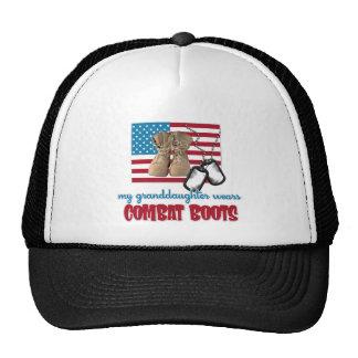 My Granddaughter wears combat boots Trucker Hat