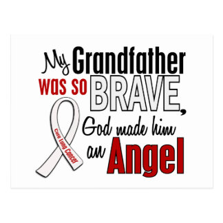 My Grandfather Is An Angel Lung Cancer Postcard