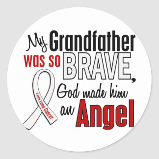 My Grandfather Is An Angel Lung Cancer Round Stickers