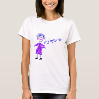 My Grandma - Child's Drawing T-Shirt