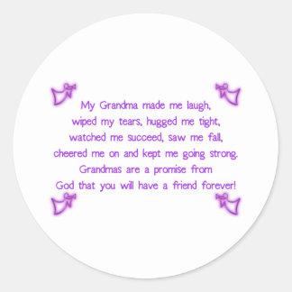 My Grandma Classic Round Sticker