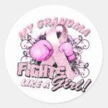My Grandma Fights Like A Girl Round Sticker