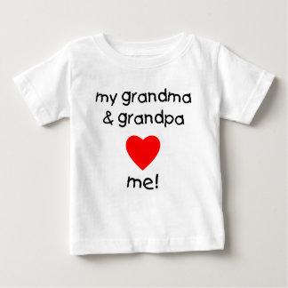 my grandma & grandpa love me baby T-Shirt