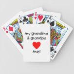 my grandma & grandpa love me bicycle playing cards