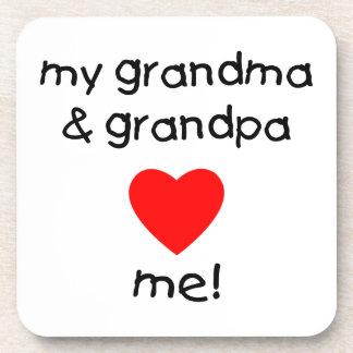 my grandma & grandpa love me coaster