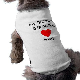 my grandma & grandpa love me pet clothing
