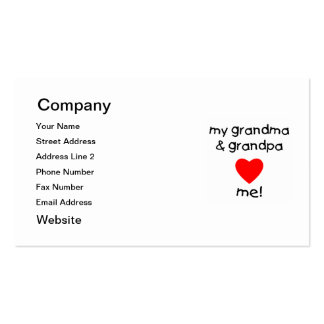 my grandma & grandpa love me Double-Sided standard business cards (Pack of 100)