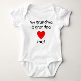 my grandma & grandpa love me infant creeper