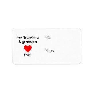 my grandma & grandpa love me label