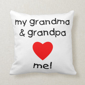 my grandma & grandpa love me throw pillows