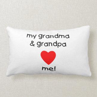 my grandma & grandpa love me pillows