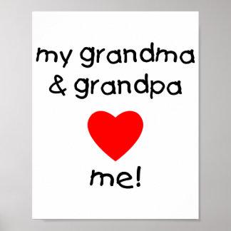 my grandma & grandpa love me poster