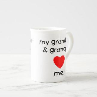 my grandma & grandpa love me tea cup