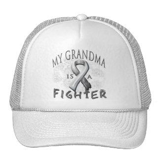 My Grandma Is A Fighter Grey Trucker Hat