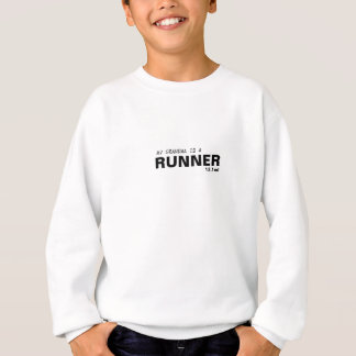 MY GRANDMA IS A RUNNER 13.1mi/BREAST CANCER Sweatshirt